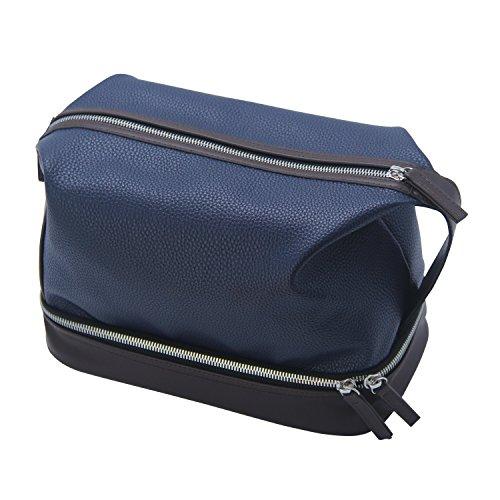 99b4f4d405 Chomeiu Leather Toiletry Bag For Men,Dopp kit Organizer Mens Travel  Toiletry Bag Shaving Dopp Kit